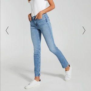 Calvin Klein Blue Slim Straight Jeans Size 30
